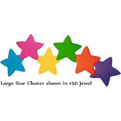 Fabric Wall Art Star Cluster (Large): #50 Jewel