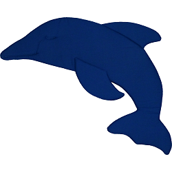 Dolphin Fabric Wall Art shown in #13 Blue