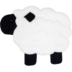 Lamb (Standing) Fabric Wall Art shown in #39 White & #19 Black