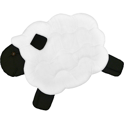 Lamb (Jumping) Fabric Wall Art shown in #39 White & #19 Black
