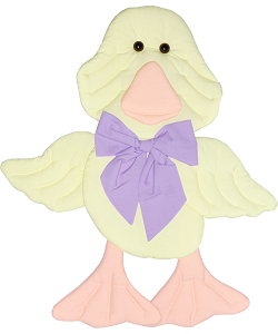 Duck Fabric Wall Art shown in 32 Lemon, 35 Peach, 36 Lilac