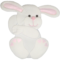 Bunny Fabric Wall Art shown in #39 White with #31f Pink Accents