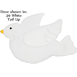 Dove (Tail Up) Fabric Wall Art shown in #39 White with #12f Yellow Beak