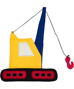 Crane Fabric Wall Art shown in Primary Colors