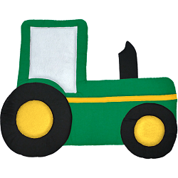 Tractor Fabric Wall Art shown in #14 Green, #19 Black, #12 Yellow