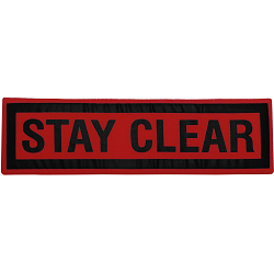 Stay Clear Sign Fabric Wall Art