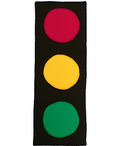 Traffic Light Fabric Wall Art