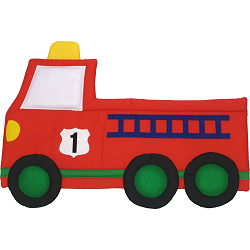 Fire Truck Fabric Wall Art