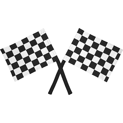 Checkered Race Flags Fabric Wall Art