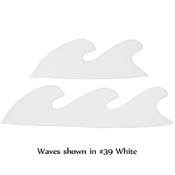 Waves (set of 2) Fabric Wall Art shown in #39 White