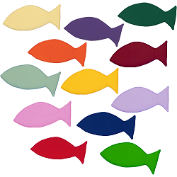 Small Fish (Single) Fabric Wall Art shown in various colors