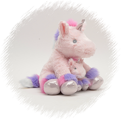 Coco Unicorn & Baby (Pink) Stuffed Animals by Unipak