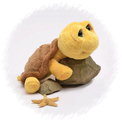 Turtle (Yellow) Big Eyes Plush Animal by Unipak