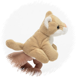 Mountain Lion Finger Puppet Stuffed Animal by Unipak