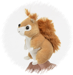 Squirrel (Brown) Finger Puppet Stuffed Animal by Unipak
