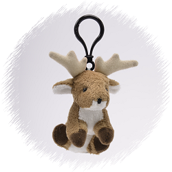 Elk Wildlife Plush Clip-On Stuffed Animal by Unipak