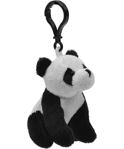 Panda Bear Wildlife Plush Clip-On Stuffed Animal by Unipak