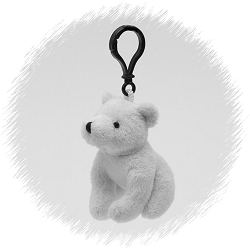 Polar Bear Wildlife Plush Clip-On Stuffed Animal by Unipak