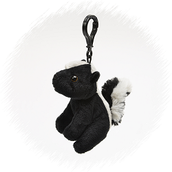 Skunk Wildlife Plush Clip-On Stuffed Animal by Unipak