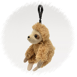 Sloth Wildlife Plush Clip-On Stuffed Animal by Unipak
