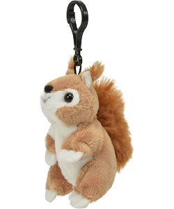 Squirrel (Brown) Wildlife Plush Clip-On Stuffed Animal by Unipak