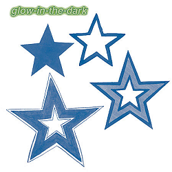 Glow-in-the-Dark Stars Wallies Wallpaper Cutouts