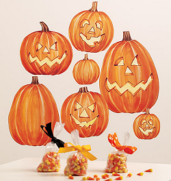 Jack O'Lantern Giant Wall Decals Room View