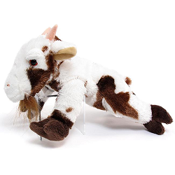 Billy Jo (Spotted) Goat Stuffed Animal by Wishpets