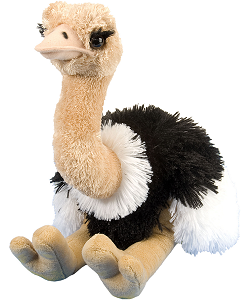 Ostrich Cuddlekins Stuffed Animal by Wild Republic