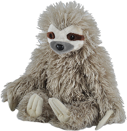 Three Toed Sloth Cuddlekins Stuffed Animal by Wild Republic