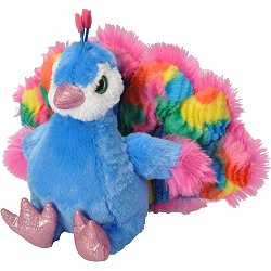 Peacock Sweet & Sassy Stuffed Animal by Wild Republic