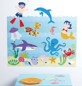 Olive Kids Aquarium Wall Play Wall Decals