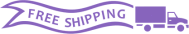 Free Shipping Banner for Free UPS ground shipping to a single address within the Contiguous 48 United States