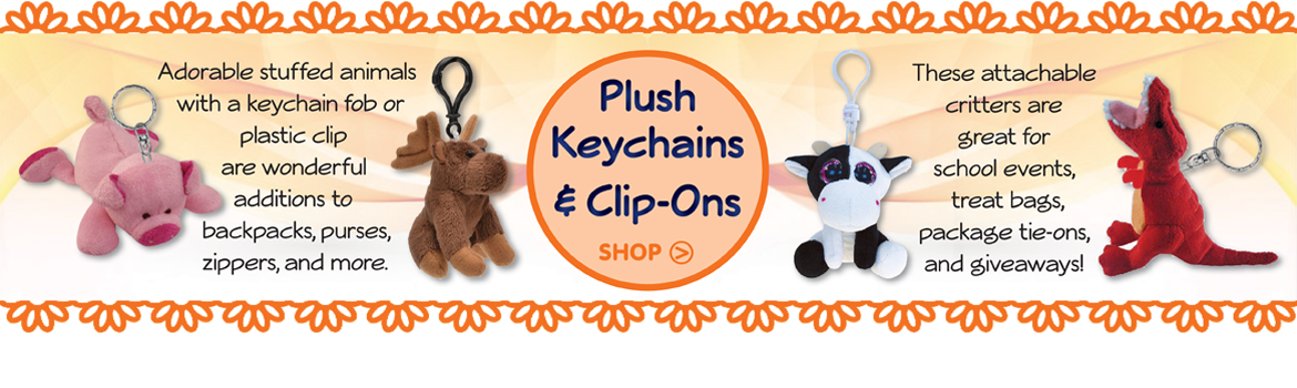 Plush Keychains & Clip-Ons