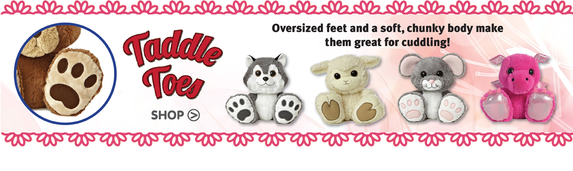 Taddle Toes Stuffed Animals