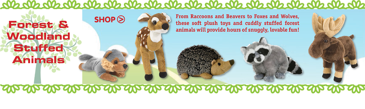 Woodland Stuffed Animals