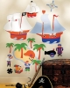 Olive Kids Pirates Wallies Big Mural Wallpaper Cutouts Room View