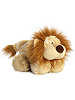 Laugh Lion Funny Bones Stuffed Animal by Aurora World (Lying Down; Feet Front; Rotated Right)