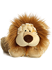 Laugh Lion Funny Bones Stuffed Animal by Aurora World (Lying Down; Feet Front; Front View)