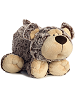 Bonkers Bear Funny Bones Stuffed Animal by Aurora World (Lying Down; Feet Front; Rotated Right)