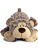 Bonkers Bear Funny Bones Stuffed Animal by Aurora World (Lying Down; Feet Front; Front View)