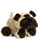 Howler Dog Funny Bones Stuffed Animal by Aurora World (Lying Down; Rotated Right; Paws Front)
