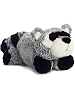 Ruckus Raccoon Funny Bones Stuffed Animal by Aurora World (Lying Down)