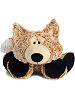 Funny Fox Funny Bones Stuffed Animal by Aurora World (Lying Down; Feet Front; Front View)
