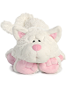 Chuckles Cat Funny Bones Stuffed Animal by Aurora World (Lying Down; Feet Front; Front View)