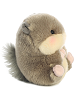 Nanigans Squirrel Rolly Pets Stuffed Animal by Aurora World (Right Rolled View)