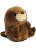 Bucky Beaver Rolly Pets Stuffed Animal by Aurora World (Rotated Rolled Back View)