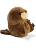 Bucky Beaver Rolly Pets Stuffed Animal by Aurora World (Side Rolled Back View)