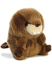 Bucky Beaver Rolly Pets Stuffed Animal by Aurora World (Rotated View)