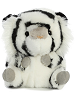Opal White Tiger Rolly Pets Stuffed Animal by Aurora World (Front)